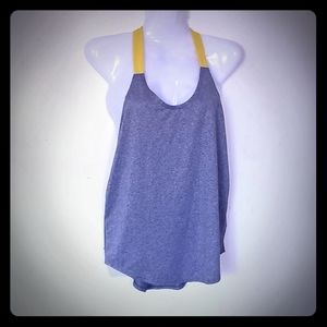 Nike Dri-fit Gray/Yellow Workout Halter top small